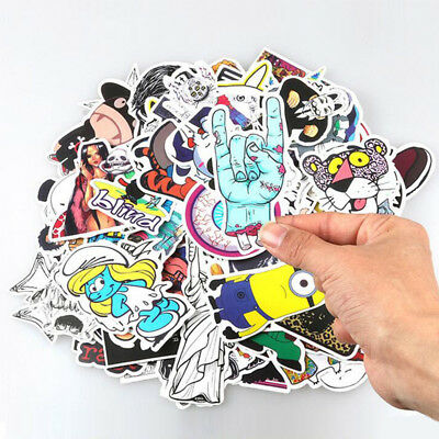 50pcs Lots Skateboard Sticker Skate Graffiti Laptop Luggage Car Bomb Vinyl Decal