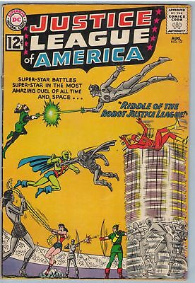 Justice League of America 13 Aug 1962 VG (4.0)