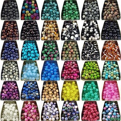 4-12mm Natural Smooth Gemstone Round Spacer Loose Beads Assorted Stones Gems