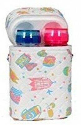 Insulated Baby Bottle Holder Twin Double HOLIDAYS DESIGN Travel Bag Carry Handle