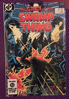 SAGA OF THE SWAMP THING #20 First ALAN MOORE Key Modern Age DC Comics