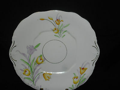 VINTAGE COLLECTABLE SALISBURY ENGLAND Bone China TULIPS CAKE SERVING PLATE