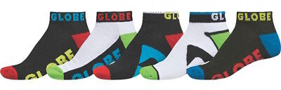Globe Boys Youth Socks - 5 Pairs - Destroyer Ankle - Assorted