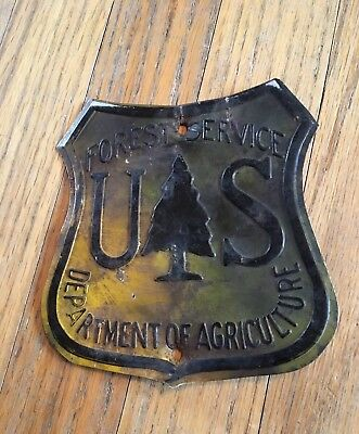 US Forest Service Sign Antique Authentic  Department Agriculture Metal Forestry