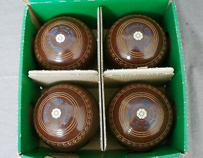 Henselite Size 4 Heavy Masters Deluxe BROWN Bowls