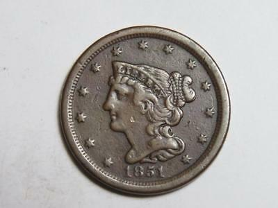 1851 Braided Hair Half Cent - Old United States Coin