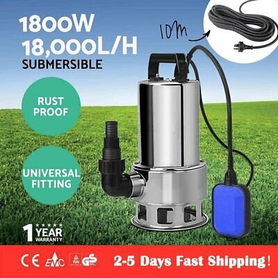 1100W Submersible Dirty Water Pump Garden Grey Water Transfer Flood Sump Drain #