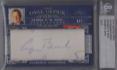 2012 Leaf Oval Office Dual Auto: George H.w./george W. Bush #5/5 Cut Autograph