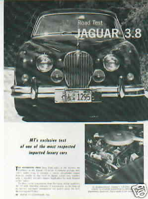 1961 Jaguar 3.8  ***original Article / Road Test***