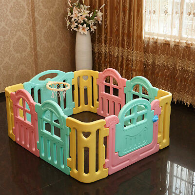 Toddlers Baby Kids Playpen Security Foldable Panels Indoor Play Fence 10 PCs.