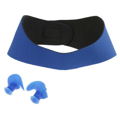Waterproof 2 Pieces Swimming Ear Band Protecter Headband with Swim Ear Plugs