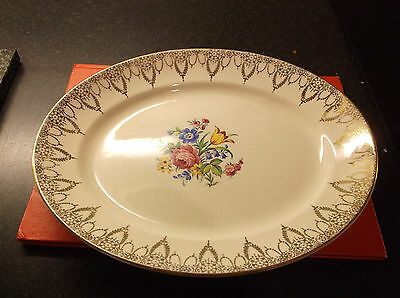 Swinnertons   Old  Oval Dish  Has Fair Amount Age Related Crazing