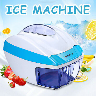 Electric Solf Ice Shaver Machine Snow Cone Maker Shaving Crusher Adjustable Home