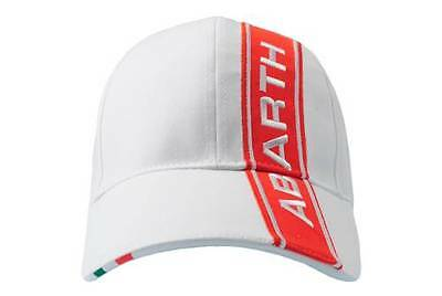 Abarth Merchandise White Cotton Baseball Cap Brand New Official Genuine