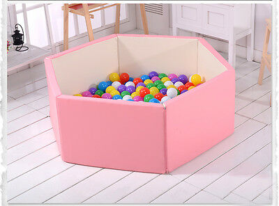 Pink Baby Kids Toddler Security Comfortable Deformable Folding Playpen.