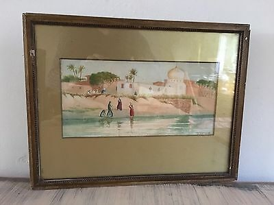 Beautiful Antique Original Watercolour Painting Of The Nile J Talbot Todd
