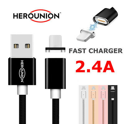 2.4A Magnetic Charger Fast Data Charging Cable For iPad Air Por iPhone 6 7 Plus