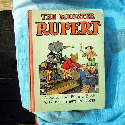 Vintage Rupert The Monster Rupert 120 cut outs complete story & picture book