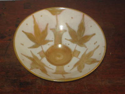 jonathan chiswell jones STUDIO POTTERY BOWL GOLD LUSTRE DECORATION