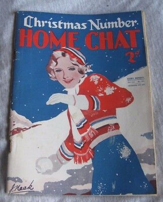 VINTAGE HOME CHAT MAGAZINE  DEC.10th 1932
