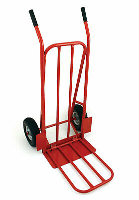 Bentley Heavy Duty Red Foldable Sack Truck Folding Toe Trolley 200Kg 440 Lbs