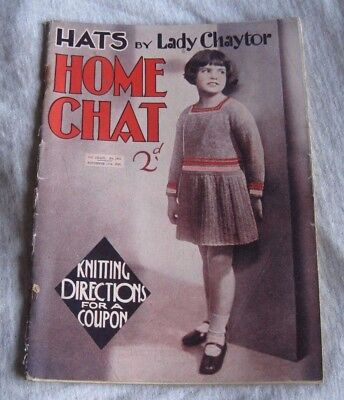 VINTAGE HOME CHAT MAGAZINE  NOV. 15th 1930