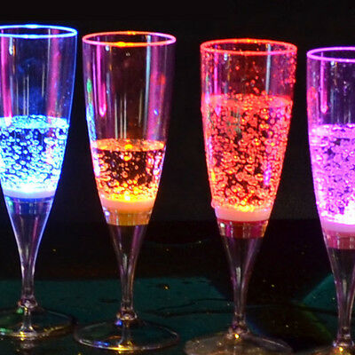 6 Pcs LED Champagne Glass LED Light Cup Goblet for Party Wedding Cups Bar Decor