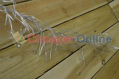 180cm / 6ft Silver Glitter Willow Leaf Christmas Garland Decoration