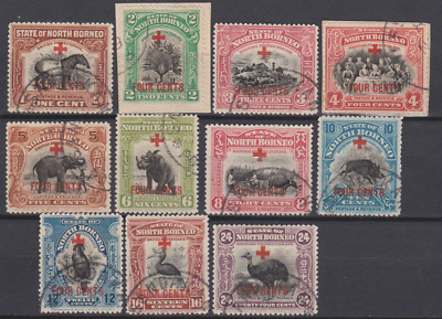 North Borneo 1918 Used Part Surcharged Set