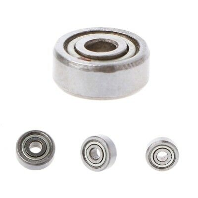 10Pcs 623ZZ 3×10×4mm Metal Double Shielded Radial Flanged Ball Bearing Miniature