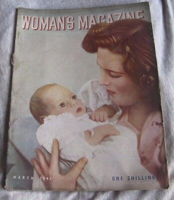 Vintage  Woman's Magazine  March 1941