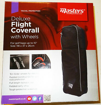 Masters Deluxe Flight Coverall With Wheels Travel Cover Brand New