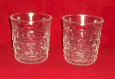 Depression Glass Jeannette Cube Cubis ? Straight Sided Old-Fashioned Tumbler Set