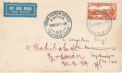 New Zealand 24 - 1934 SOUTHERN CROSS cover