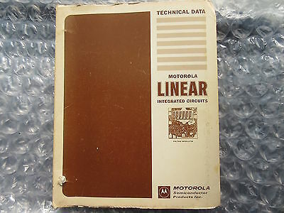 Old 1971 Motorola Linear Integrated Circuits Technical Data Book