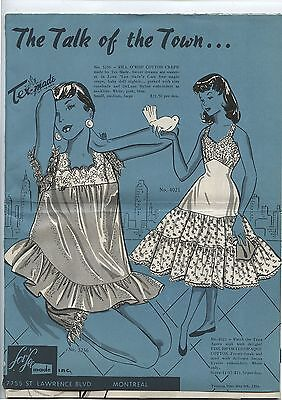 Old 1956 Tex-Made Montreal Womens Clothing Dresses Brochure