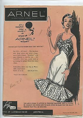 Old 1956 Arnel Lor Lee Montreal Womens Clothing Dresses Brochure