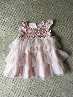 Baby Girls Pink Xmas Party Dress Age 3-6 Months From Next