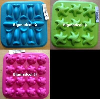 Ikea Plastis Ice Cube mould tray var colours shapes NEW