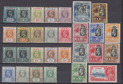 Gambia 1909/35 Collection Mint Mounted to 2/6