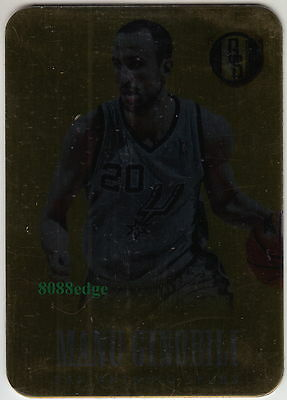 2013-14 Gold Standard Metal Card: Manu Ginobili #89 San Antonio Spurs Finest