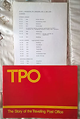 1988 The story of the travelling Post Office & inaugural TPO Dover-Manch. sheet