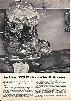 1963 Evinrude Outboard Motors 2 Page Ad- Great Photo