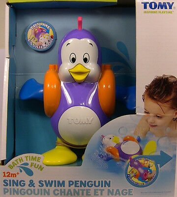 Tomy Plastic Sing And Swin Penguin Bath Time Fun Active Play Toy For Children