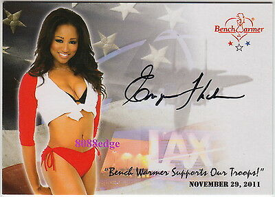 2011 Benchwarmer Support Our Troops Promo Auto: Enya Flack - Autograph