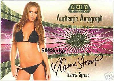 2007 BENCHWARMER GOLD AUTO: CARRIE STROUP #17 of 30 AUTOGRAPH MISS USA