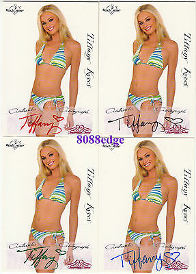 (4) 2005 Benchwarmer Signature Auto:tiffany Kyees-Red+Blue+Green+Black Autograph
