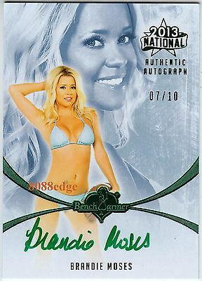 2013 Benchwarmer National Auto: Brandie Moses #7/10 Autograph Playboy Cyber Girl