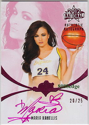 2012 Benchwarmer National Auto: Maria Kanellis #20/25 Autograph Playboy Cover