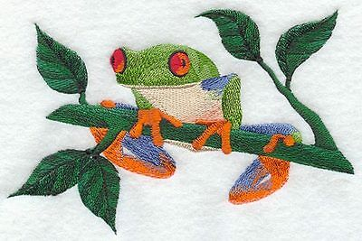 Large Embroidered Zippered Tote - Tree Frog M1939